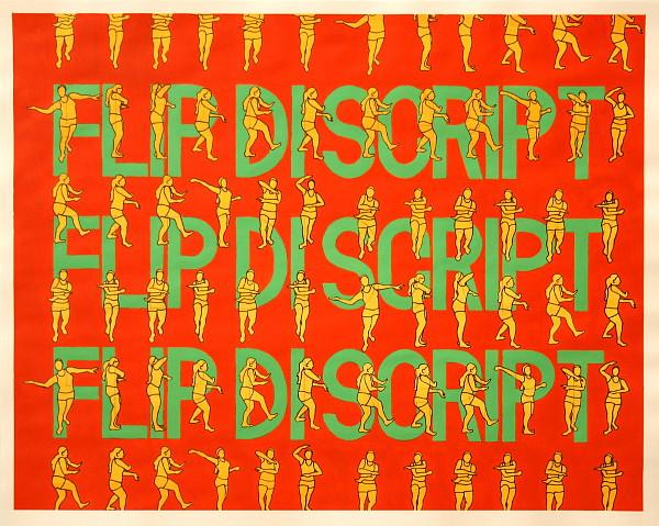 Flip di Script, Acrylic & Ink on Paper, 50cm x 40cm by Robin Clare