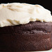 Guinness Chocolate Cake for Two frosted