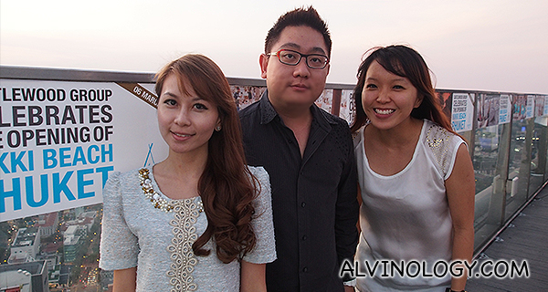 Me at the Singapore launch event with Regina and Grace