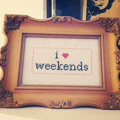 Happy Weekend #crossstitch #thebellwether