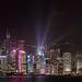 Hong Kong Skyline - at night during the 8PM light show.