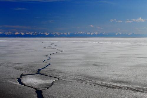 ice russia april baikal listvyanka