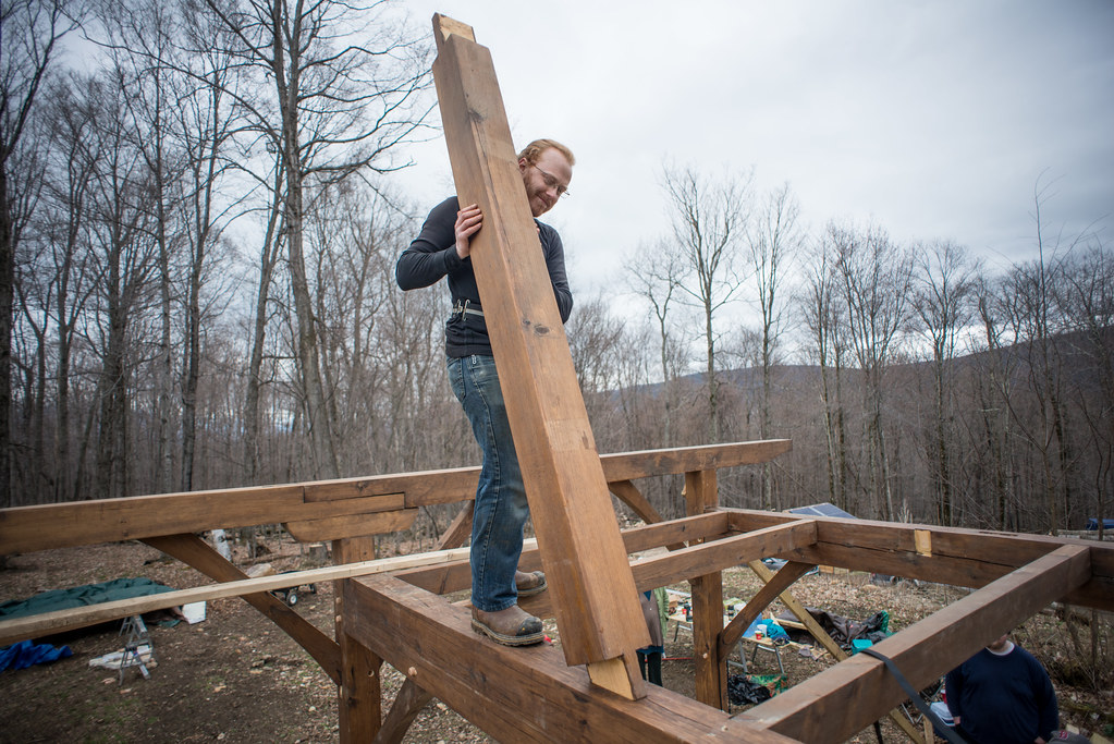 Timber Frame Cottage Frame Raising: The Big Day, Part Three