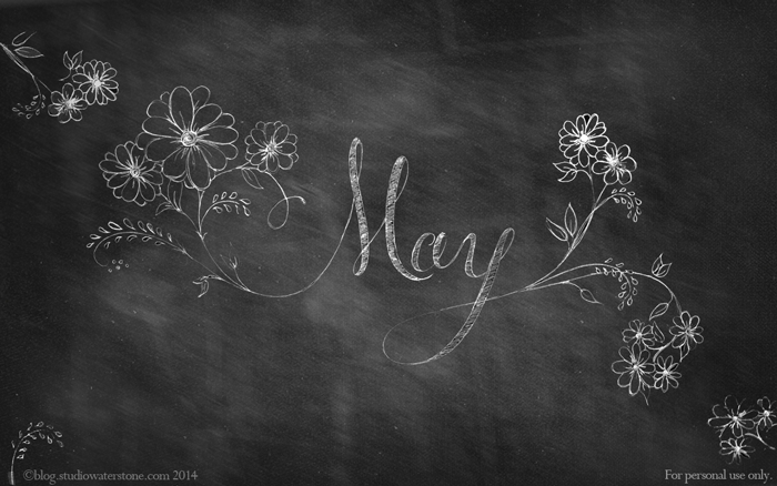 May 2014 Chalkboard Desktop