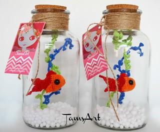 Pet fish in a bottle