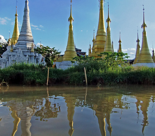 Inle Lake Magical Pagodas with Stupas