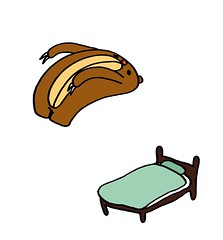 ベッドに背中からジャンピングダイブするクマむー2
