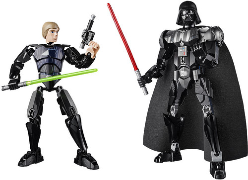 LEGO Star Wars Buildable Figures - Luke Skywalker & Darth Vader