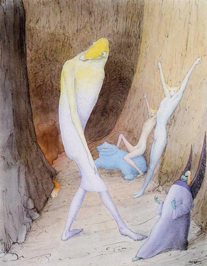 """Walter Schnackenberg - """"Unterwelt,"""" 1951"""