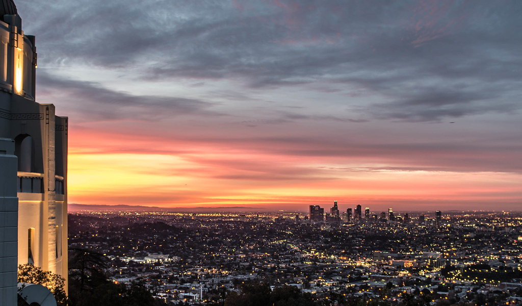 Los Angeles, sunrise, California, Griffith Observatory