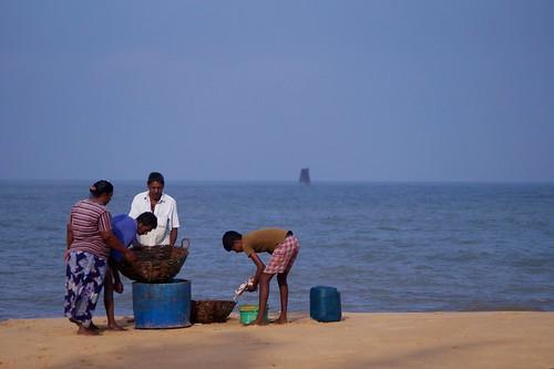sea sky mer beach fishermen bleu sri lanka ciel sail voile plage negombo pêcheurs