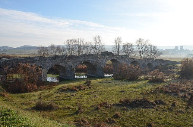 Roman bridge Ozieri, dating to the 2nd century AD and restored in the 3rd–4th century AD. It has six arcades for a total length of 87.50 metres (287 ft), Sardinia