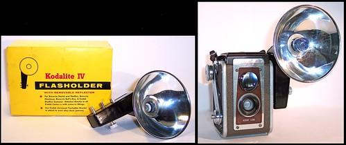 Kodak Kodalite IV Flasholder  ( on Duaflex IV camera)