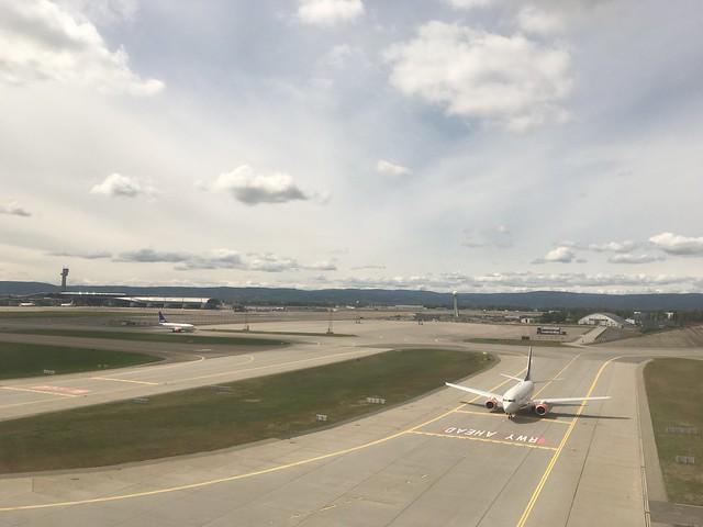 Landing at Oslo-Gardermoen