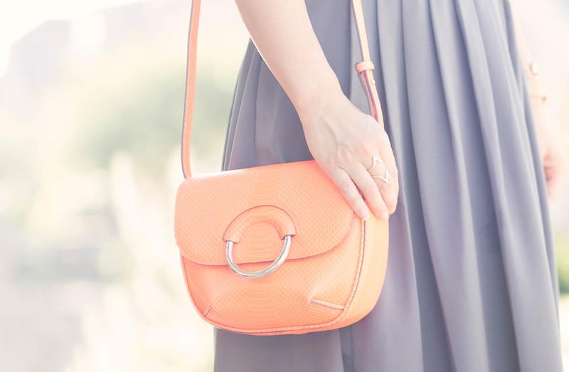 cute & little blog | petite fashion | banana republic pleated strappy maxi dress, italian vachetta mini saddle bag, rocksbox geometric diamond ring | spring summer outfit
