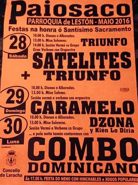 A Laracha 2016 - Festas do Corpus en Lestón-Paiosaco - cartel