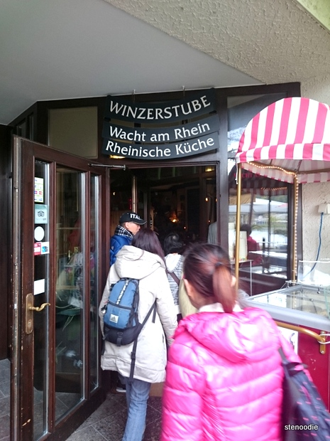 Entrance of Wacht am Rhein restaurant