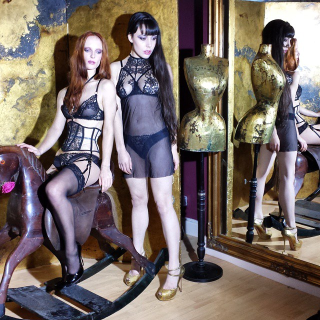 Gestalta modeling lingerie for Karolina Laskowska's girls that glitter collection