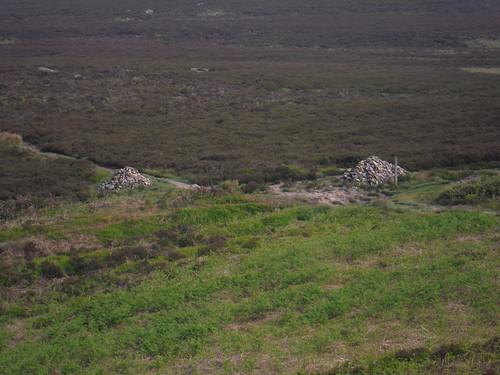 Cairns at Footpath Crossing, Burbage Rocks