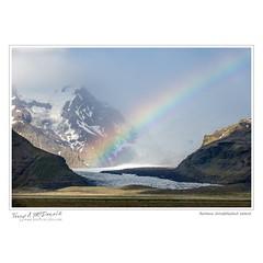 Rainbow, Svínafellsjökull, Iceland