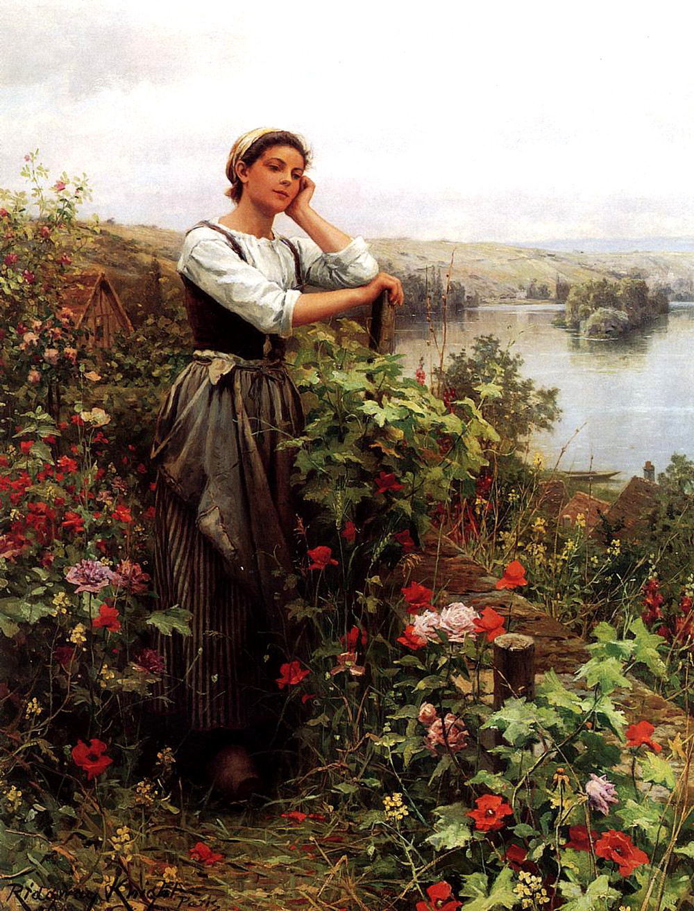 A Pensive Moment by Daniel Ridgway Knight