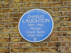 Photo of Charles Laughton blue plaque
