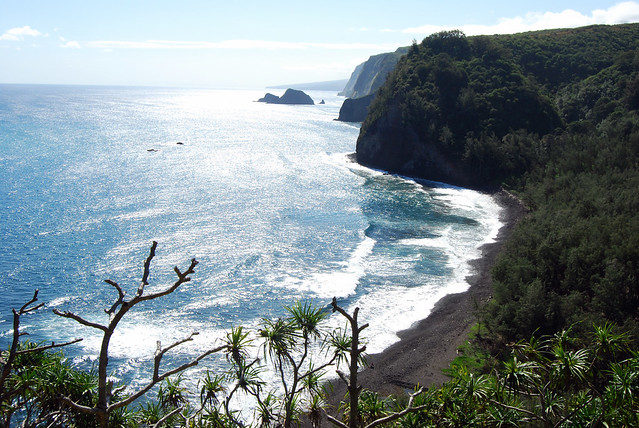 Pololu Beach Below