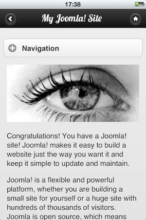 Mobile_Joomla_screenshot