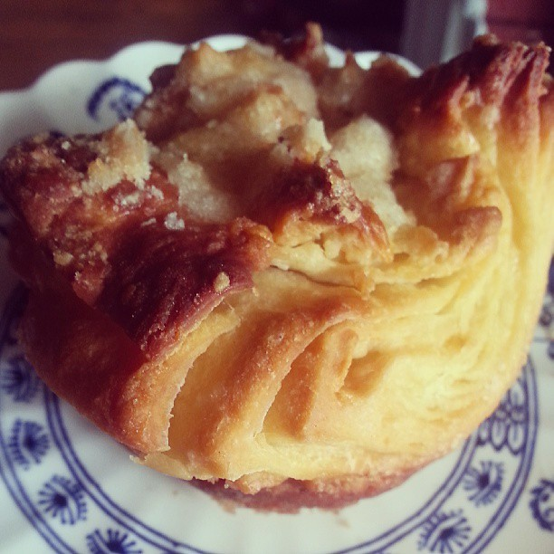 He served me homemade Kouign Amann with my coffee, which is pretty much the best #mothersday # breakfast I could imagine. Love having a husband who knows his way around a pastry.