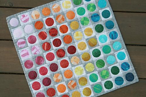 Circular Edges Mini Quilt ~ Washed