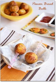 Paneer Bread Balls