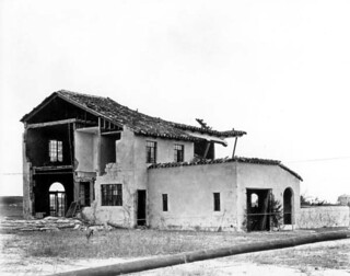 Home damaged by the 1926 hurricane: Miami Beach, Florida