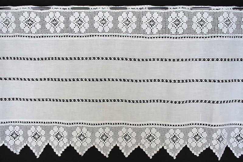7 5 cm scheibengardine gardine scheibengardinen 50 cm hoch. Black Bedroom Furniture Sets. Home Design Ideas