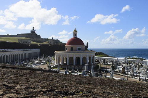 world ocean santa old blue sea sky castle heritage cemetery architecture clouds de landscape puerto site san day juan cloudy fort maria sunny el atlantic unesco rico mausoleum tropical caribbean fortification tropics morro cristobal castillo magdalena pazzis