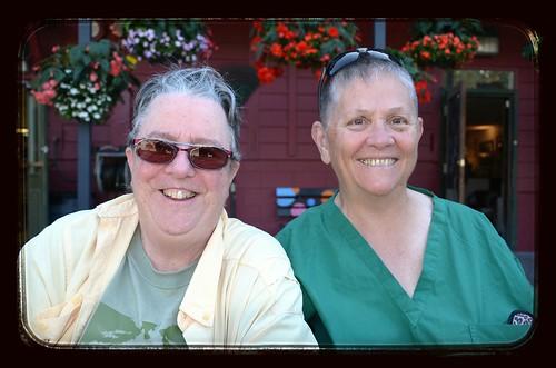Angie y Linda, mis primeras anfitrionas en redes de hospitalidad.