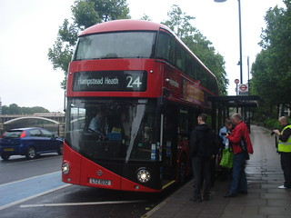The first LT at Pimlico. Metroline LT32 on working HT414, Route 24, 22/06/13
