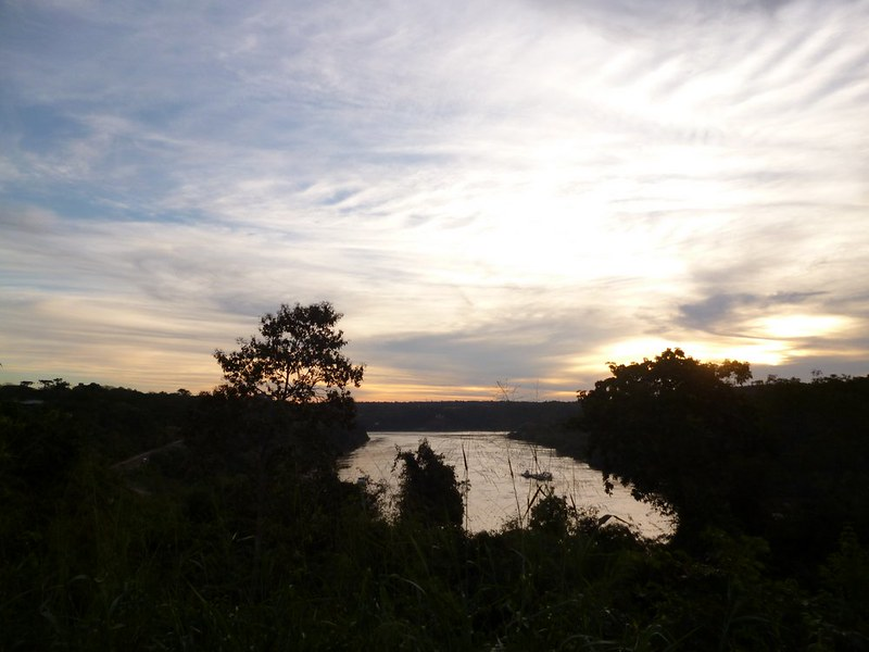 Sunset on Iguazu river