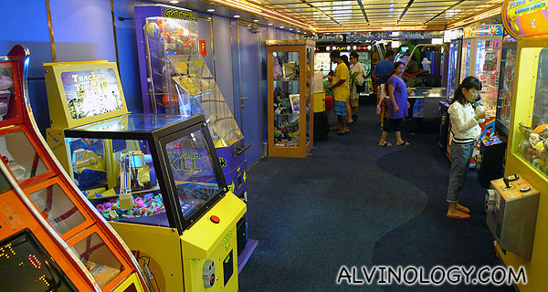 Inside the games arcade