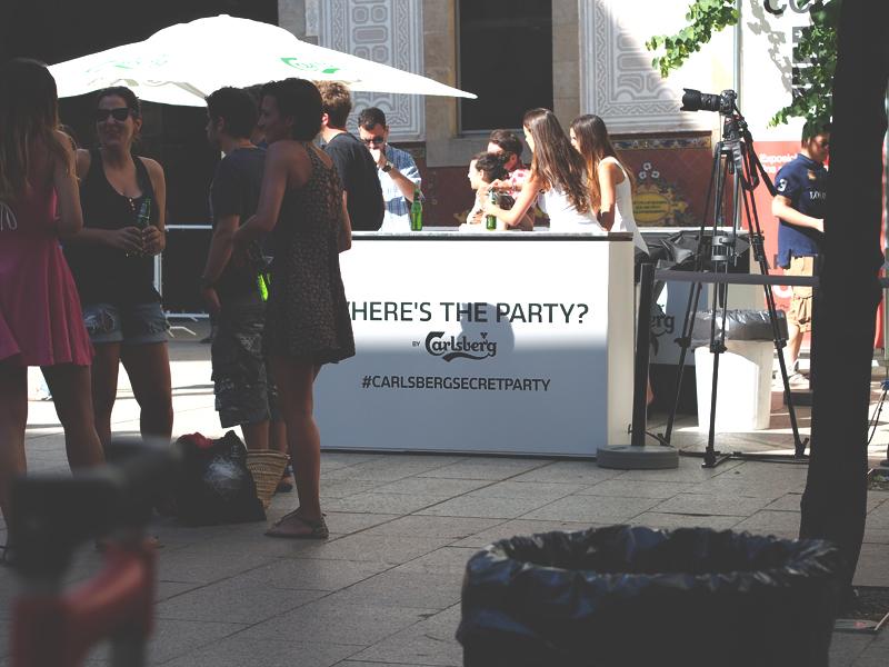 carlsberg secret party barcelona