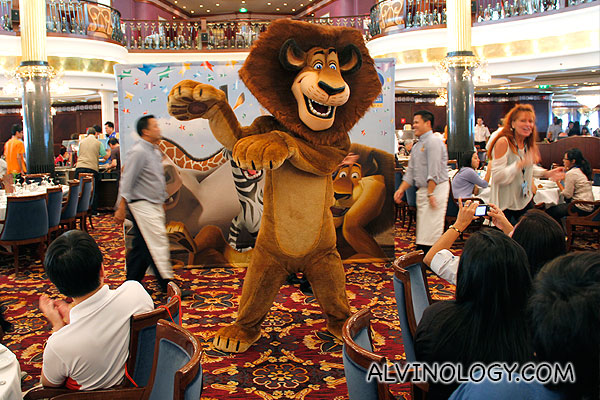 Alex the lion was the first to appear