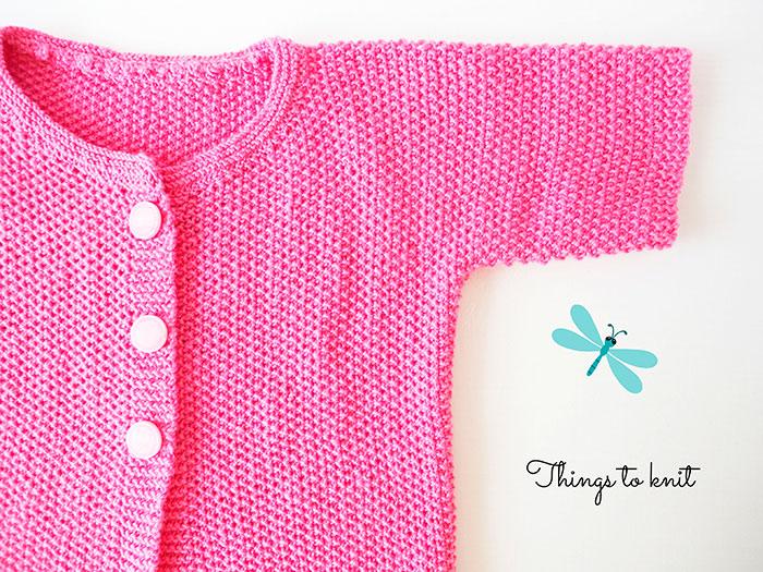 jersey niña tejido dos agujas