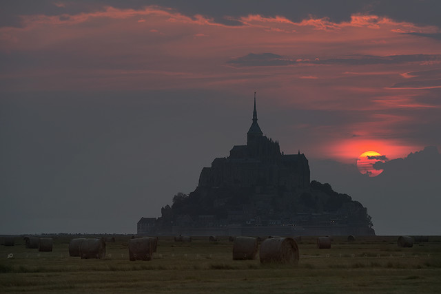 Sunset Mont Saint Michel
