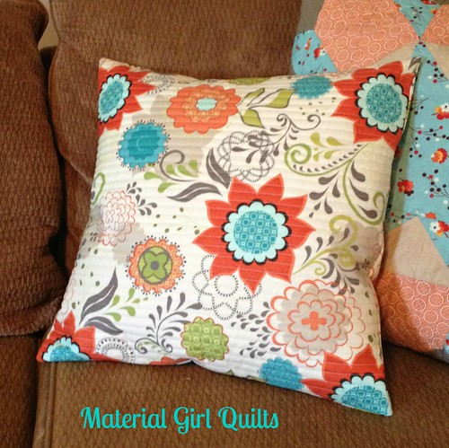quick quilted pillow cover