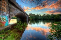 Urban Bridge Sunset