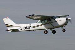 G-OSII - 1976 build Cessna 172N Skyhawk, departing from Runway 09L at Barton