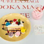 The tea meeting cake of Mami and Strawberry milk