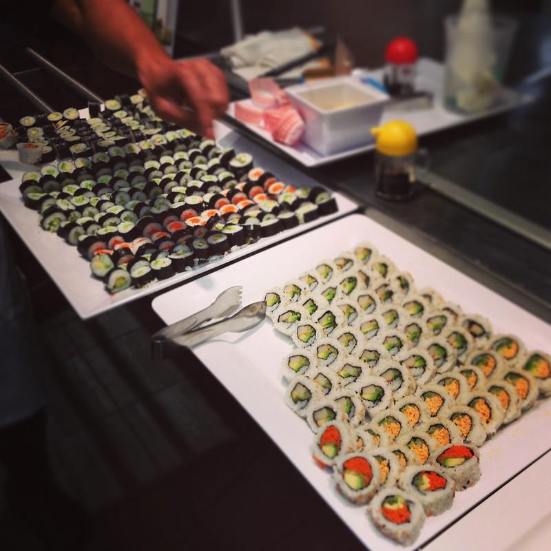 Free sushi samples