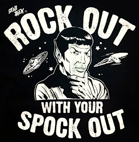 Spock t-shirt design as worn by Irish guy