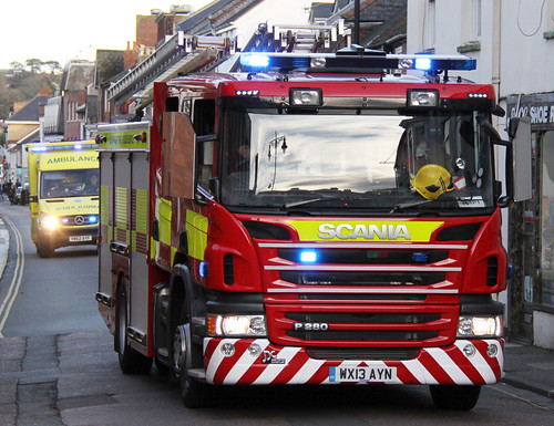 Isle of Wight Fire & Rescue Service Scania P280 Pump Ladder - WX13 AYN