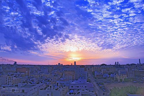 sunset clouds saudi arabia jeddah hdr غروب غيوم جده